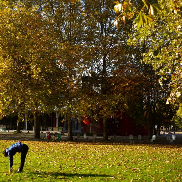 Vues sur Parc de La Villette en automne