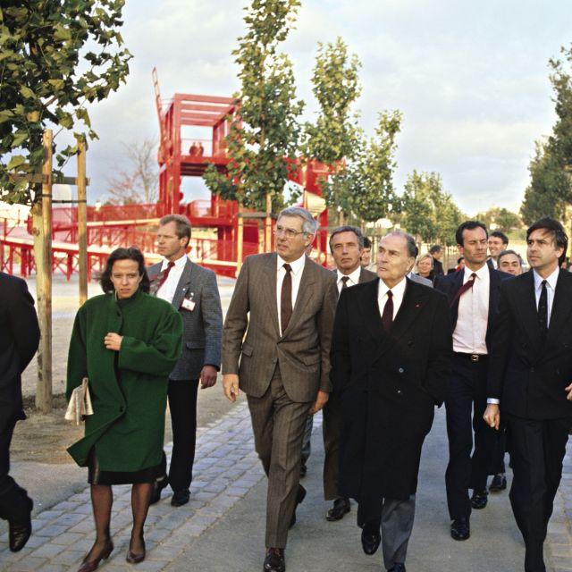 Inauguration du Parc de La Villette par le Président de la République