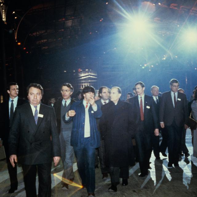 Inauguration de la Grande Halle de La Villette par le Président de la République