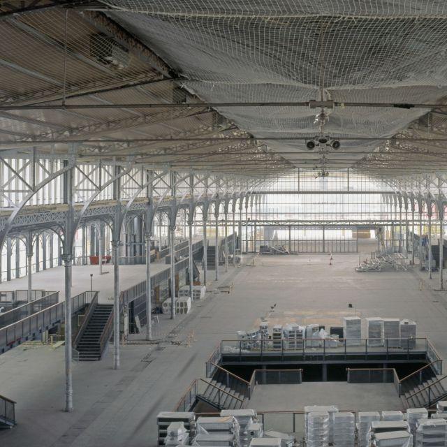 Chantier de rénovation de la Grande Halle de La Villette