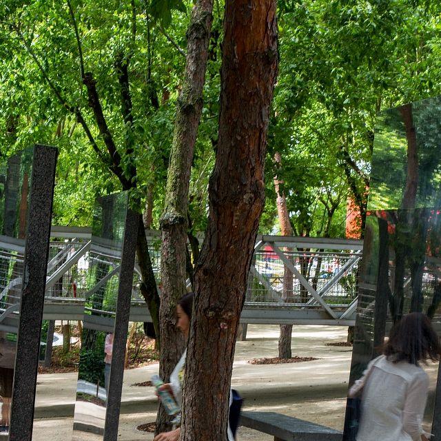 Les nouveaux jardins de la Villette - Jardin des miroirs ©Bruno Delamain