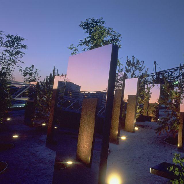 Les nouveaux jardins de la Villette - Jardin des miroirs de nuit © J.L. Bohin