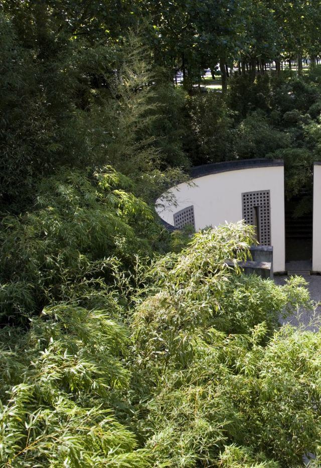 Le cylindre sonore dans le jardin des bambous de La Villette