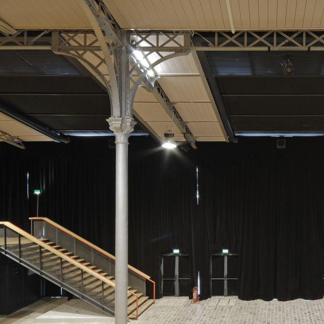 Grande Halle de La Villette Espace Charlie Parker escaliers